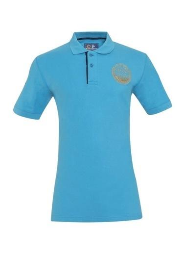 Panthzer  Taftan Polo Yaka Erkek T-Shirt Mavi